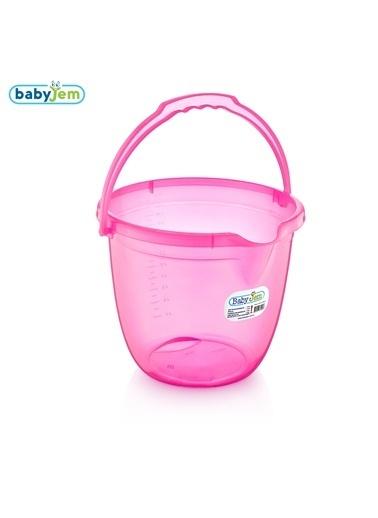 Baby Jem Babyjem Bebek Banyo Kovası Şeffaf  Pembe